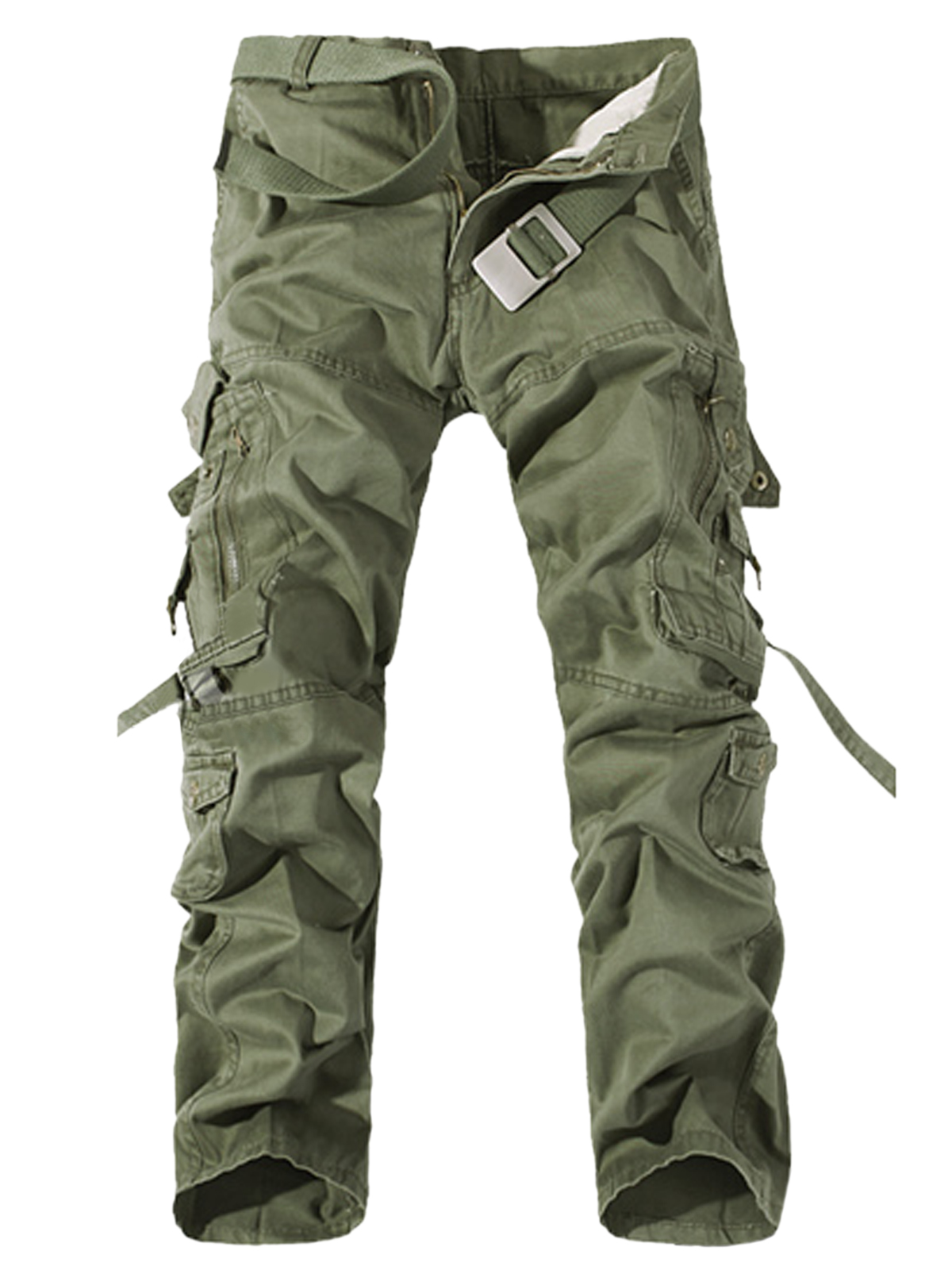 Men Casual Cotton Outdoor Woodland Work Wear Pants Cargo Military ...