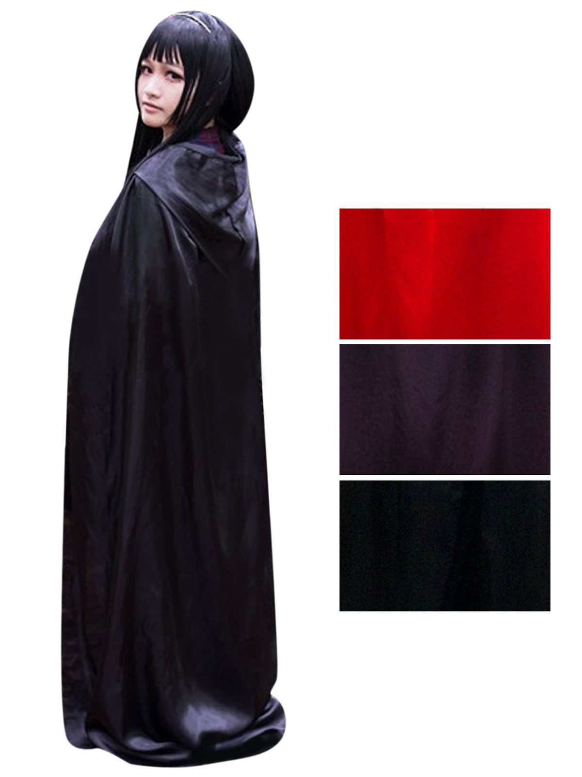 Unisex Full Length Halloween Witch Costume Cosplay Party Hooded ...