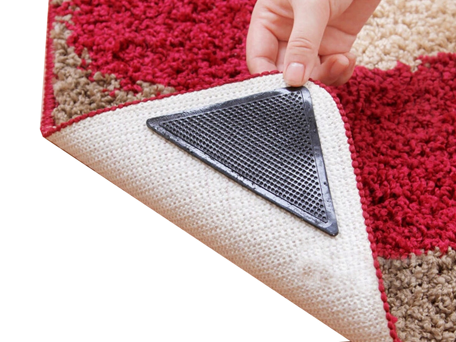 reuseable non slip mat gripper anti skid carpet ruggies. Black Bedroom Furniture Sets. Home Design Ideas